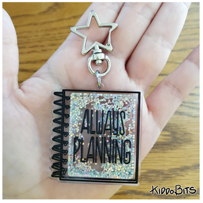Always Planning Acrylic Shaker Keychain
